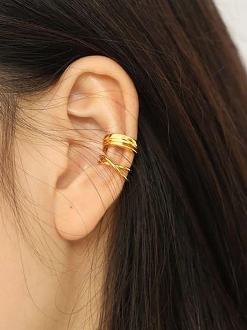 Dak Phoenix 925 Sterling Silver smooth Irregular Minimalist Clip Earring [Single] 2